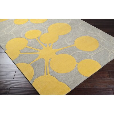 Jef Designs Bubble Gray/Yellow Rug