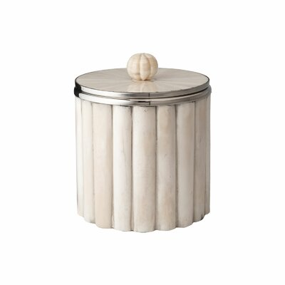 Lazy Susan Bone Rod Pattern Ice Bucket