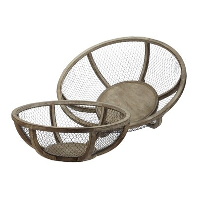 Wire Atlas Bowl (Set of 2)