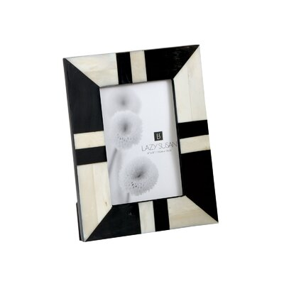 Lazy Susan Horn and Bone Picture Frame
