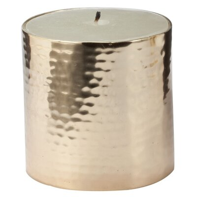 Lazy Susan USA Hammered Pillar Candle