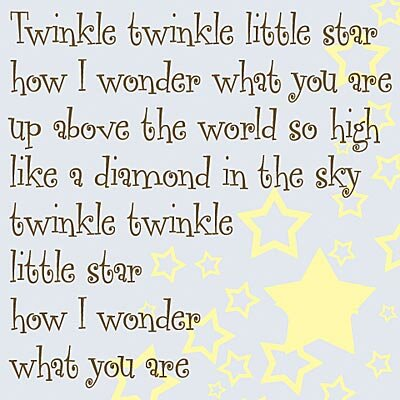 Twinkle Twinkle Little Star... Kids Canvas