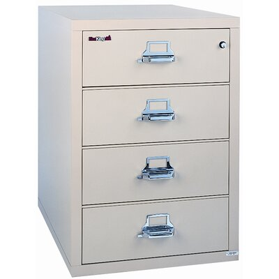 "Fire King 38"" W Three-Drawer Lateral File"
