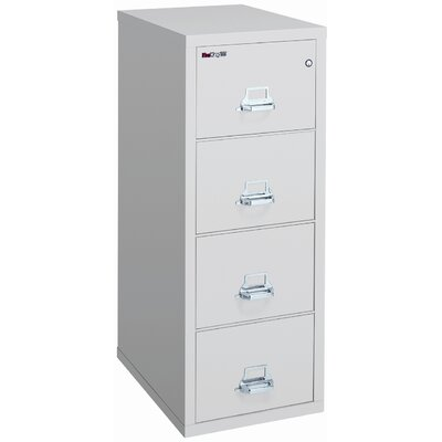 Fire King 25&quot; D Four-Drawer Vertical Legal File