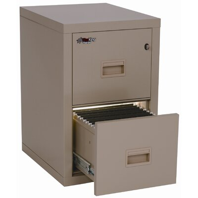 "Fire King 22"" D Two-Drawer Turtle File"