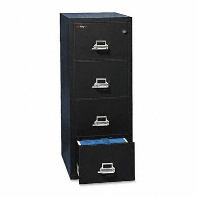 "Fire King 4-Drawer Vertical File, 17.75"" W x 31.56"" D, Ul Listed 350 for Fire, Letter"