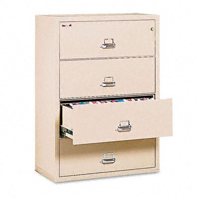 "Fire King 4-Drawer Lateral File, 37.5"" W X 22.13"" D, Letter/Legal"
