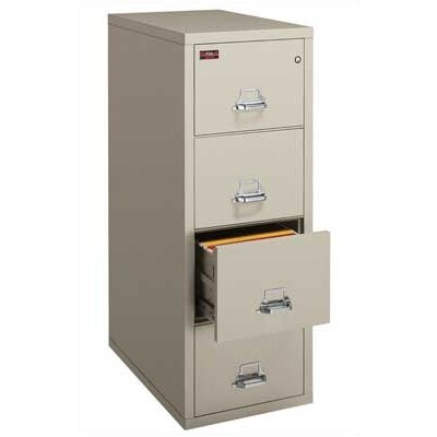 Fire King Four-Drawer Vertical Letter File
