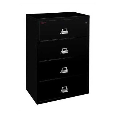 "Fire King 38"" W Four-Drawer Lateral File"