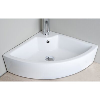Corner Single Hole Vessel Bathroom Sink - IMG-7127