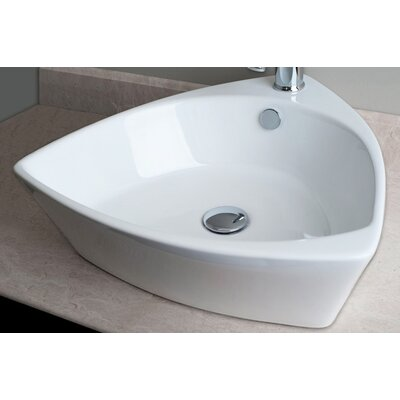 IMG Triangular Shaped Single Hole Vessel Bathroom Sink
