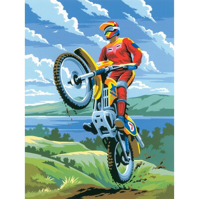 Royal & Langnickel Painting by Numbers Junior Small Motocross Set