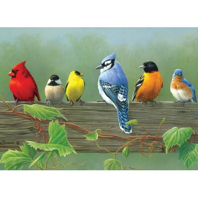 Reeves Paint By Numbers Rail Birds Painting