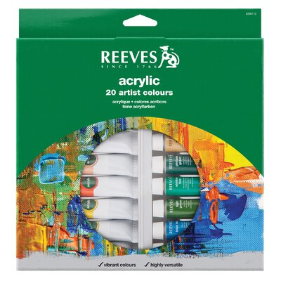 Reeves Acrylic Paint (Set of 20)