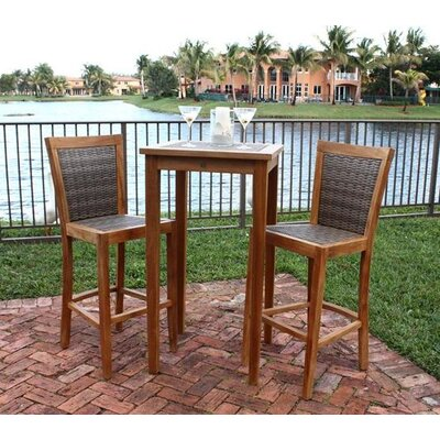 Panama Jack Outdoor Leeward Islands Pub Table and Barstool Set