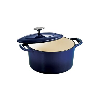 Tramontina Gourmet Enameled Cast Iron 5.5 Qt Covered Round Dutch Oven Gradated