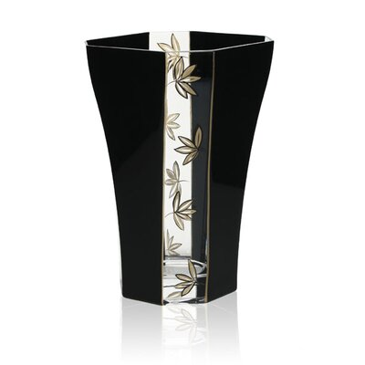 Womar Glass Leaves Decorative Vase