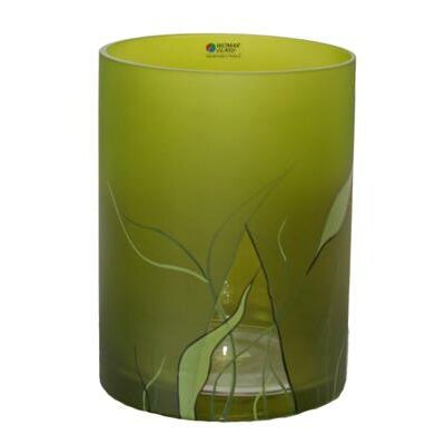 Womar Glass Lucious Lime Round Vase