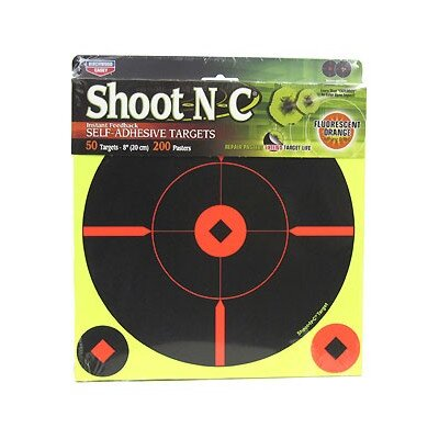 "Birchwood Casey Shoot-N-C 8"" BMW50 Round ""X"" Target (50 Per Pack)"