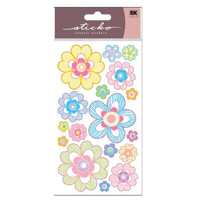 Sticko Vellum Pastel Strip Daisy Sticker