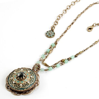 Amazonite Medallion Necklace