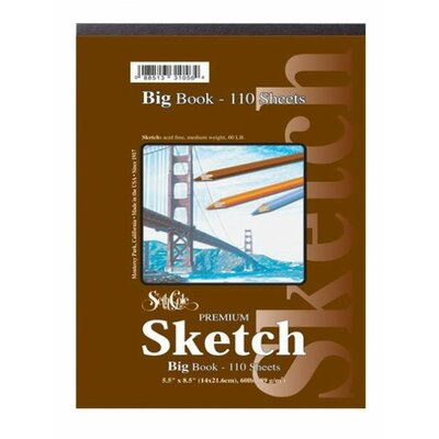 Seth Cole Premium Sketch Spiral Top Big Book (33 Sheets)