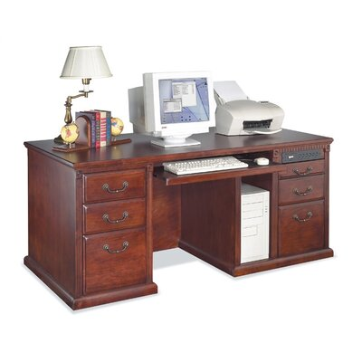 kathy ireland Home by Martin Furniture 68.25 Double Pedestal Computer Desk