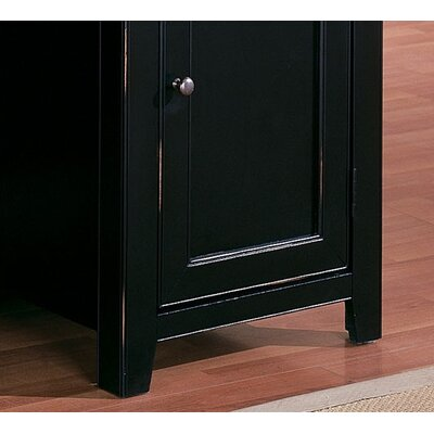 "kathy ireland Home by Martin Furniture Tribeca Loft 70"" H Black Lower Door Bookcase"