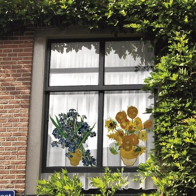 Oots Special Edition Flat Flowers Window Stickers in Sunflowers