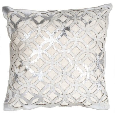 Marlo Lorenz Trace Laser Cut Leather Pillow