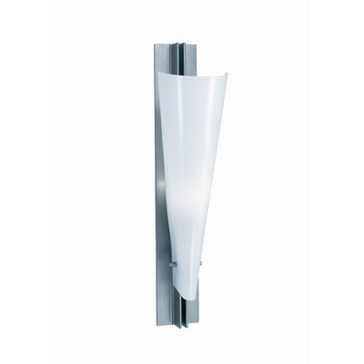 Terzani Lola One Light Wall Sconce in Satin Nickel