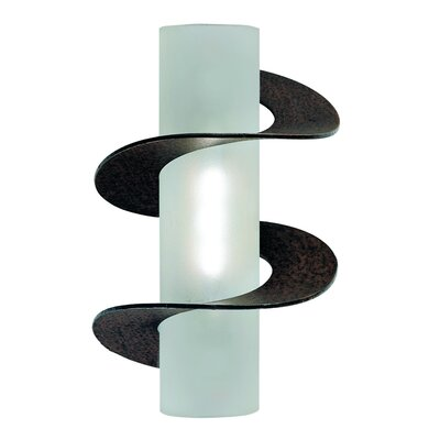 Terzani Solune One Light Wall Sconce in Rusty with Double Twist