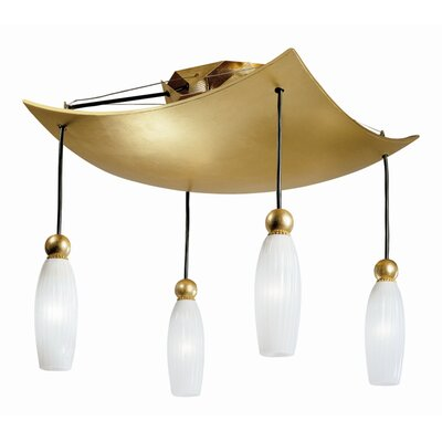 Terzani Rose Tulipe Four Light Ceiling Lamp