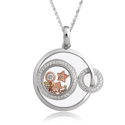 Sterling Silver Cubic Zirconia and Crystal Star Necklace