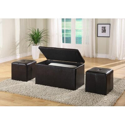 Modus Furniture Urban Leatherette Storage Bench