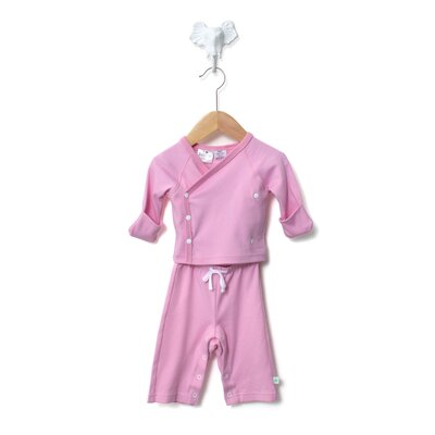 Baby Star Soy Organic Kimono Set in Cotton Candy Pink