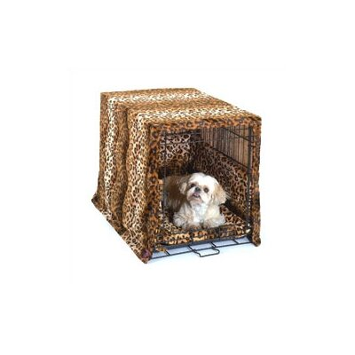 Pet Dreams Designer Cratewear 3 Piece Dog Bedding Set in Leopard Print