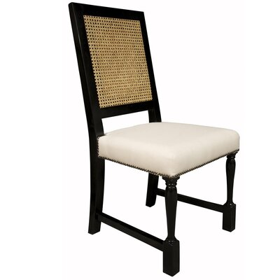 Noir Colonial Caning Side Chair
