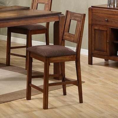 Lifestyle California Altamonte Counter Height Barstool in Walnut