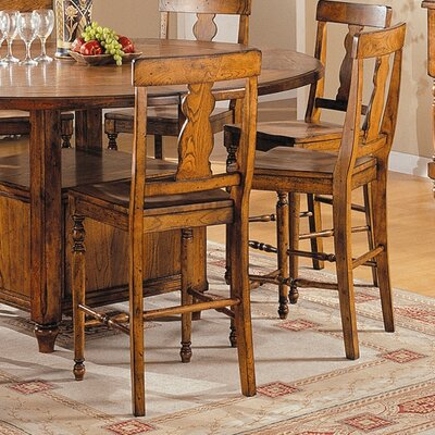 Lifestyle California Tuscany Counter Height Barstool in Distressed Rustic Tuscany