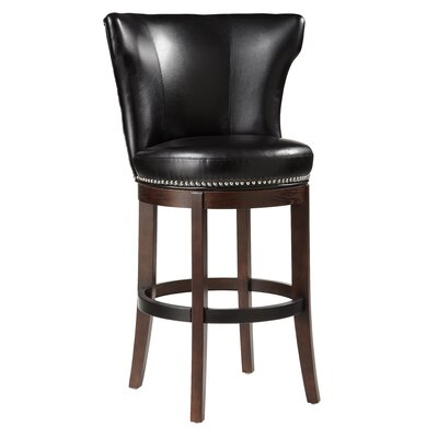 Sunpan Modern Tavern Bonded Leather Swivel Stool