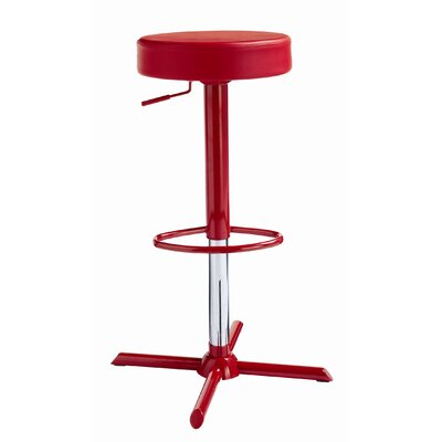 Sunpan Modern Franco Faux Leather Adjustable Barstool
