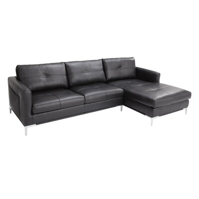 Sunpan Modern El Toro Leather Sectional