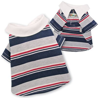 Adorable Multi-Colors Striped Polo Dog Shirt