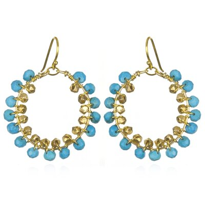 Amanda Rudey White Oak Turquoise Natalia Earrings