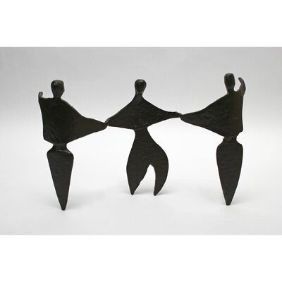 Vita V Home Abstract Trio Cast Iron Statue
