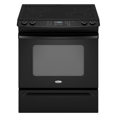 "Whirlpool 30"" Self-Cleaning Slide-In Electric Range"