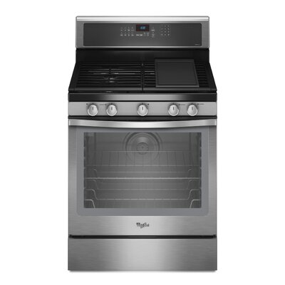 Whirlpool 5.8 cu. ft. Rapid Preheat Option Gas Range