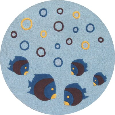 Abacasa Abacasa Kids Aqaurium Lt. Blue/Chocolate/Yellow Area Rug