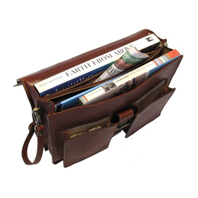 Floto Imports Novella Briefcase in Brown